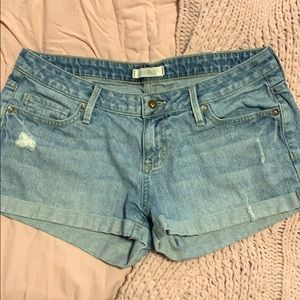 Vintage Early 2000s Distressed Denim Shorts